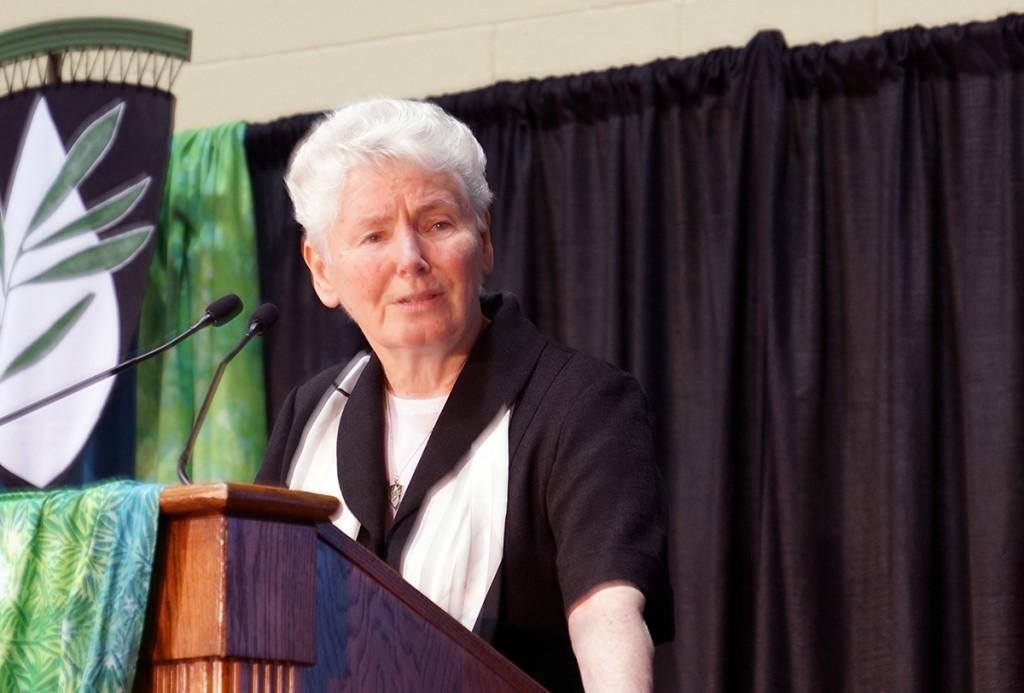 Margaret Ormond at podium