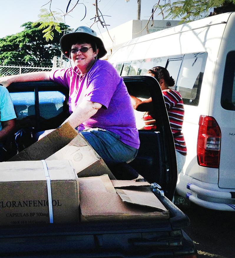 Susan Leslie on truck