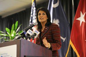 Newly appointed UN Ambassador Nikki Haley